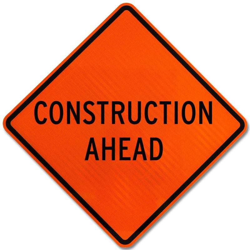 Construction Ahead Sign X4733 - by SafetySign.com