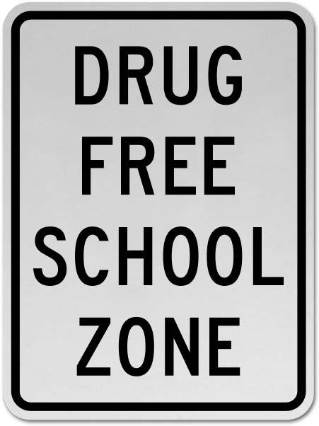 Drug Free School Zone Sign X5604 By Safetysigncom