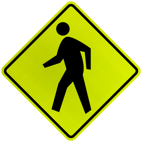 Pedestrian Crossing Diamond Sign By Safetysign Com X5642