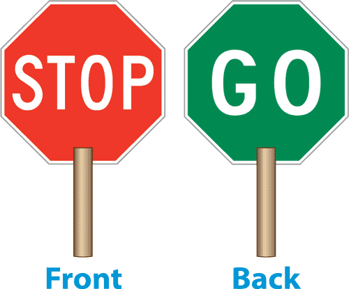 12 handle stop go sign paddle y1263 by. Black Bedroom Furniture Sets. Home Design Ideas