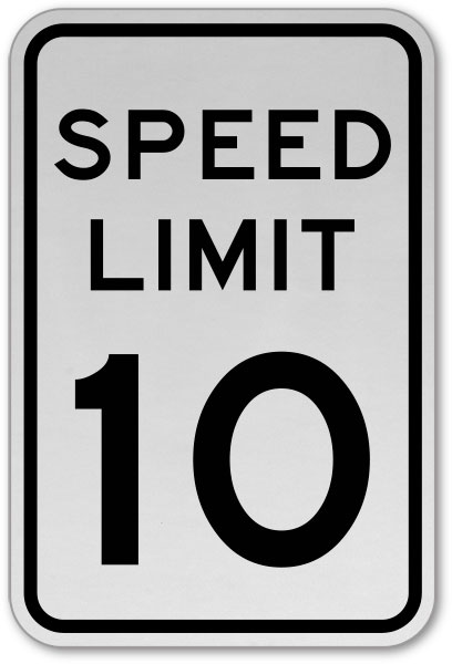 speed limit 10 mph sign y1970 by safetysign com