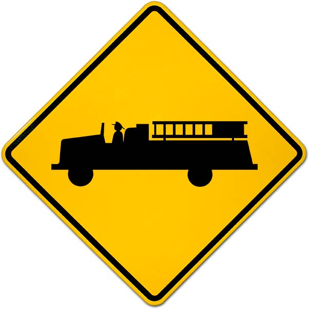 Emergency Vehicles Warning Sign Y2355 By Safetysign