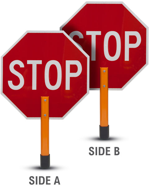 stop stop retro reflective handheld paddle sign y5012 by