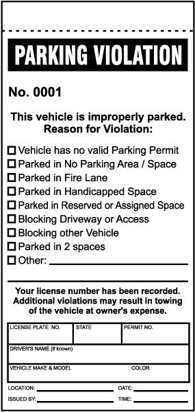 Parking Violation Ticket Y6008 By Safetysign Com