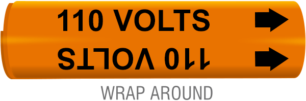110 Volts Wrap-Around Marker