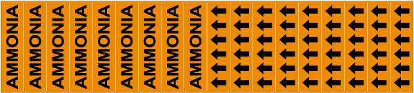 Ammonia Pipe Labels on a Card