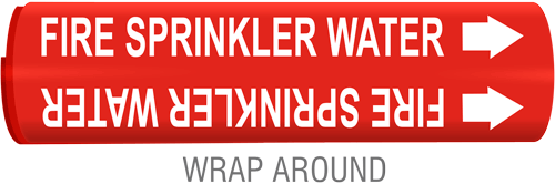 Fire Sprinkler Water Pipe Marker