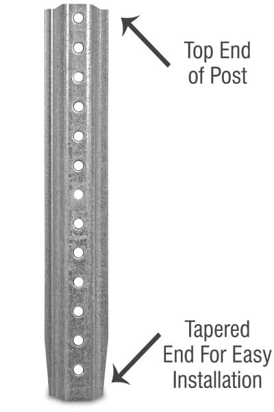 6ft. Galvanized U-Channel Post
