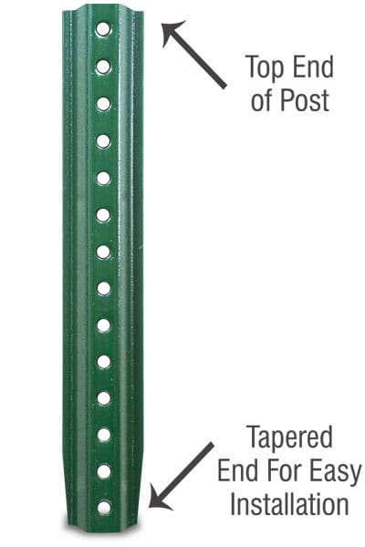 4ft. and 6ft. Green U-Channel Posts