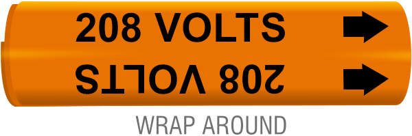 208 Volts Wrap-Around Marker
