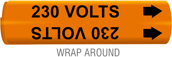 230 Volts Wrap-Around Marker