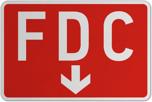 FDC (Down Arrow) Sign