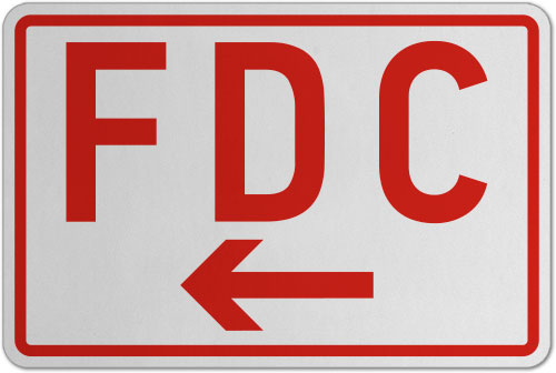 FDC (Left Arrow) Sign