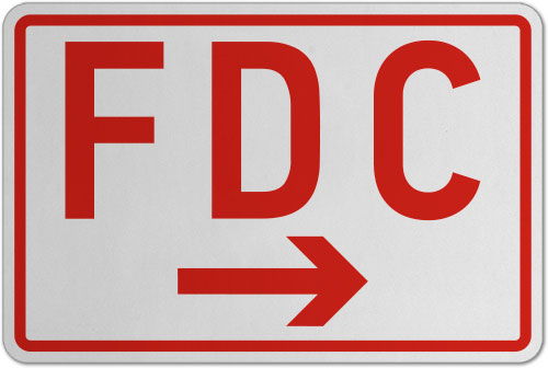 FDC (Right Arrow) Sign