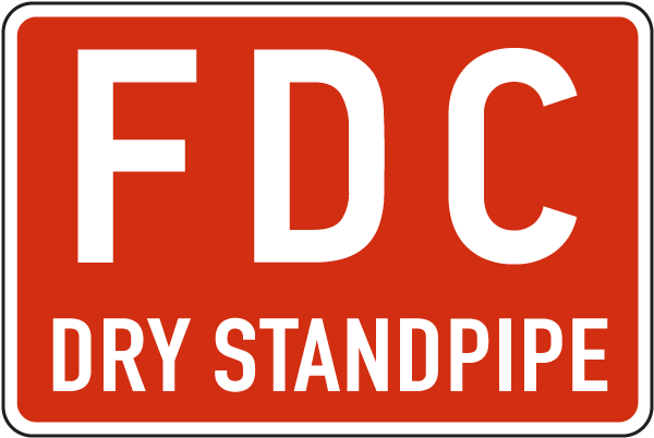 FDC Dry Standpipe Sign