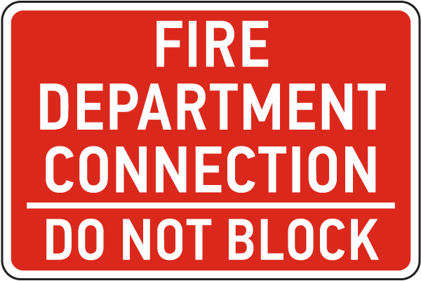 Fire Department Connection Sign