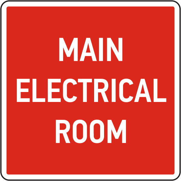 Main Electrical Room Sign 25721 By