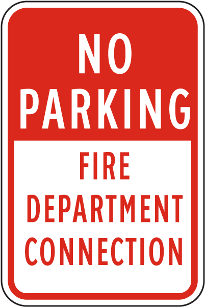 No Parking FDC Sign