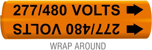 277 / 480 Volts Wrap-Around Marker