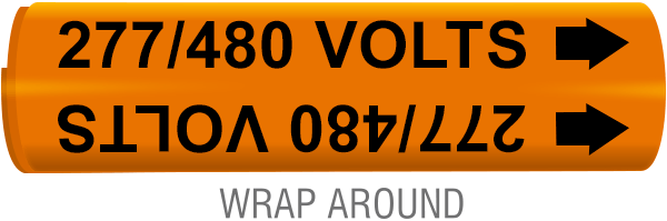 277 / 480 Volts Wrap-Around Marker