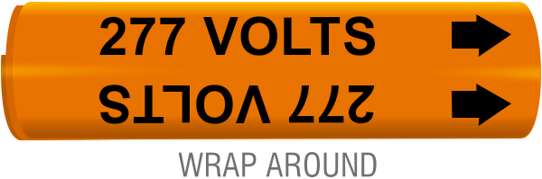 277 Volts Wrap-Around Marker