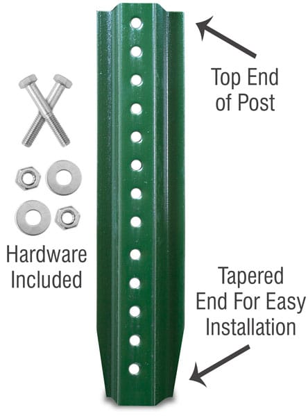 U-Channel Post Kit - Green Enamel and Galvanized