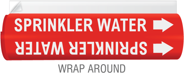 High Temp. Sprinkler Water Pipe Marker