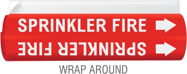 High Temp. Sprinkler Fire Pipe Marker