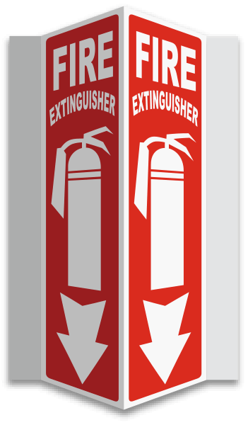 3-Way Fire Extinguisher Sign