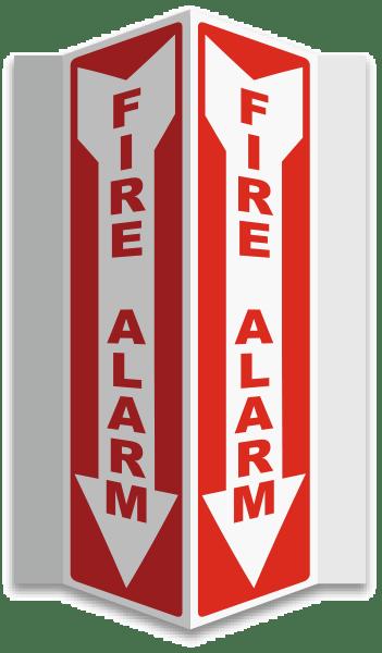 Fire Alarm 3-Way Sign