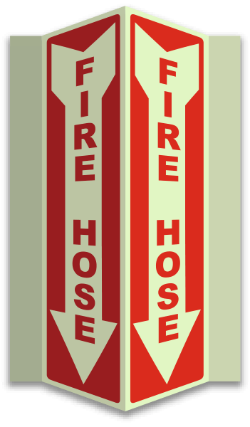 Fire Hose 3-Way Sign