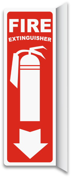 2-Way Fire Extinguisher Sign