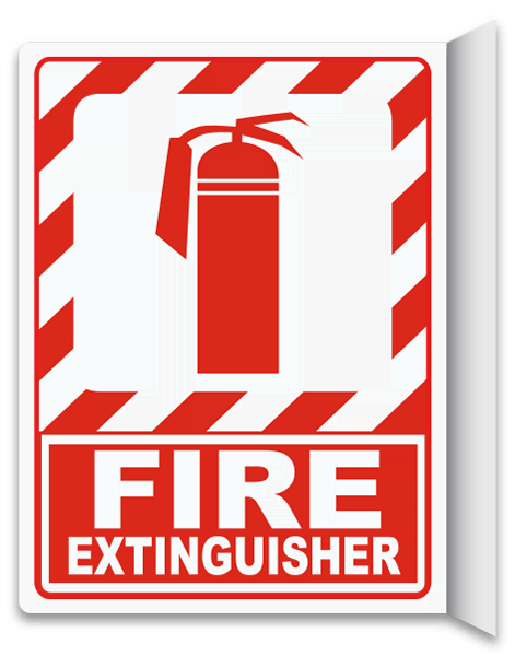 Fire Extinguisher 2-Way Sign