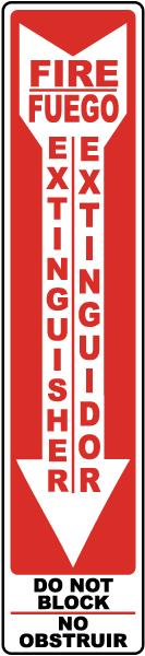 Bilingual Fire Extinguisher Label