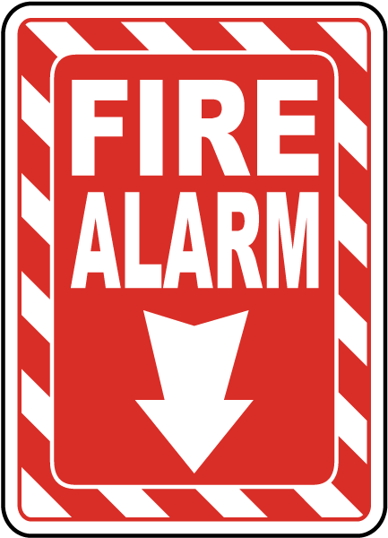 Fire Alarm Sign A5041 By Safetysign Com