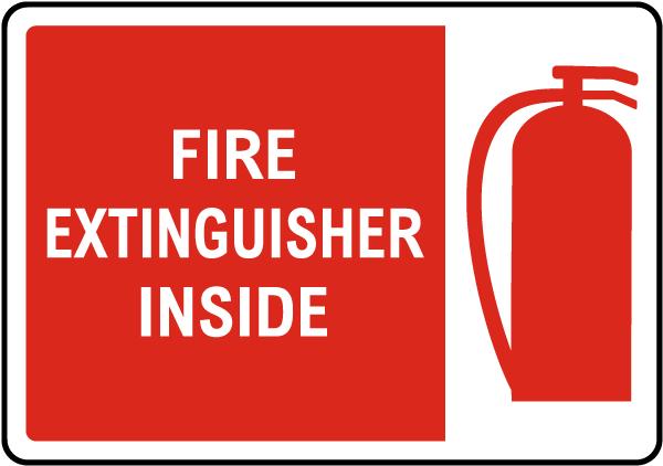 Fire Extinguisher Inside Sign