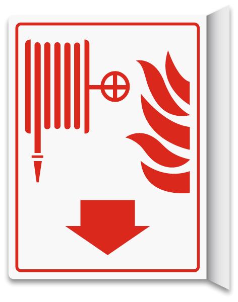 Fire Hose 2-Way Sign