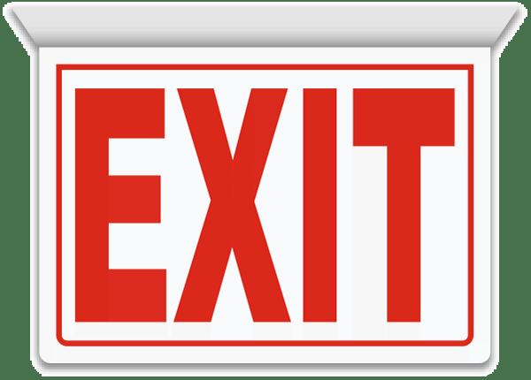 Exit 2-Way Sign