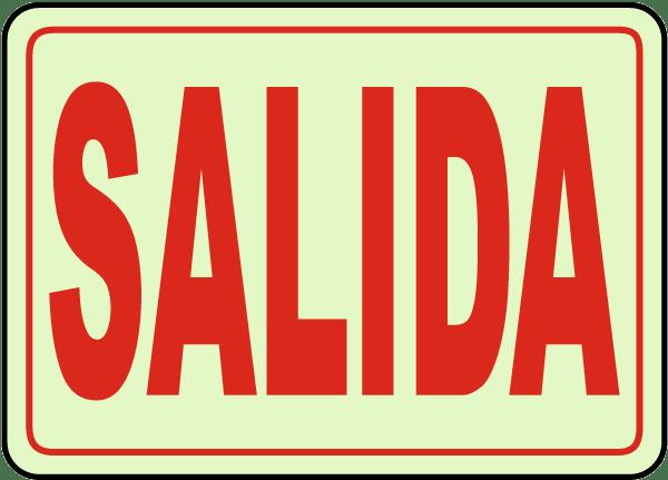 Spanish Exit Sign