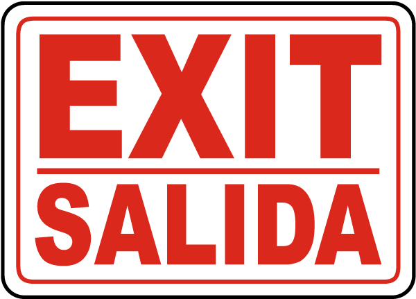 Bilingual Exit Sign