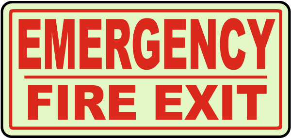 Emergency Fire Exit Sign