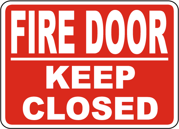 Fire Door Keep Closed Sign A5170 - by SafetySign.com