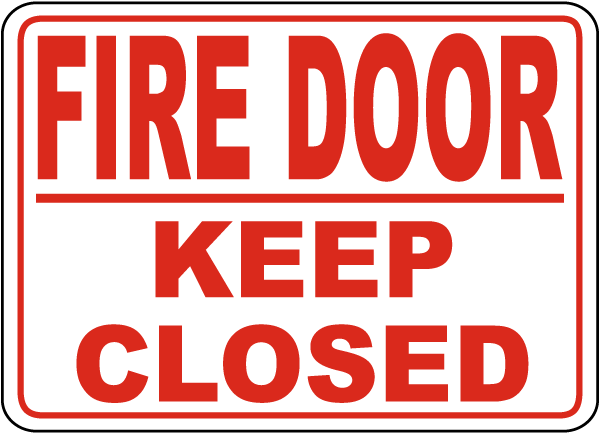 Fire Door Signs : Fire door keep closed sign a by safetysign