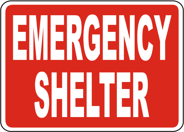 Emergency Shelter Sign
