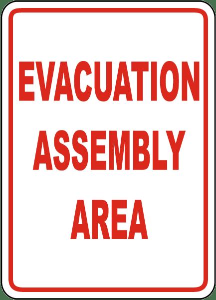 Evacuation Assembly Area Sign