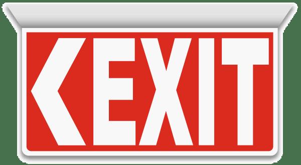 2-Way Exit (Left Arrow) Sign