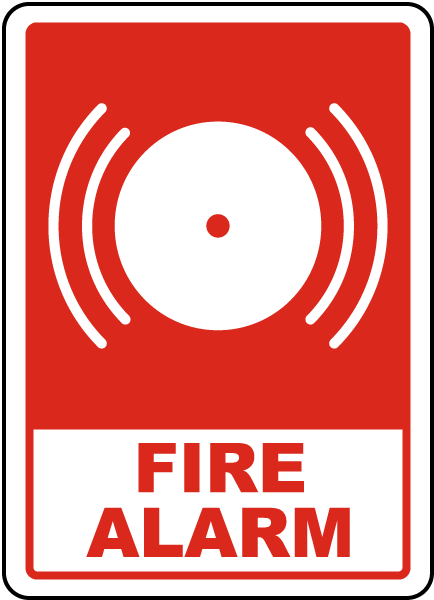 Fire Alarm Sign A5316 By Safetysign Com