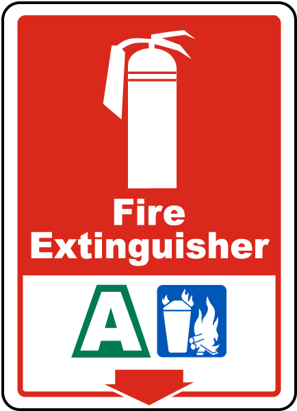 Fire Extinguisher A Sign