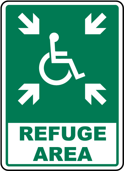 Accessible Refuge Area Sign