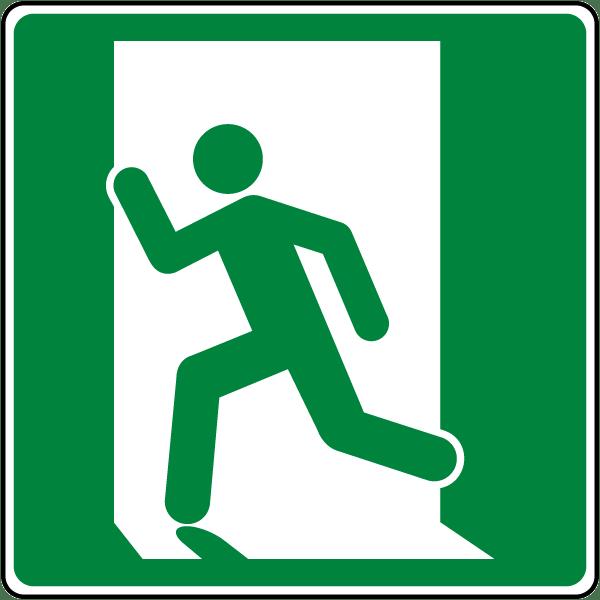 Emergency Exit Symbol (Left) Sign